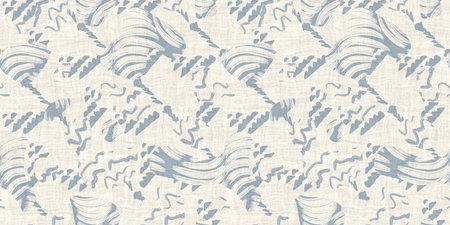 Seamless two tone hand drawn brushed effect pattern border swatch Standard-Bild