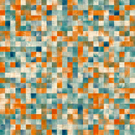 Seamless square tile faux wall mosaic pattern for surface design and print