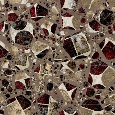 Seamless modern abstract random terrazzo pattern swatch Standard-Bild