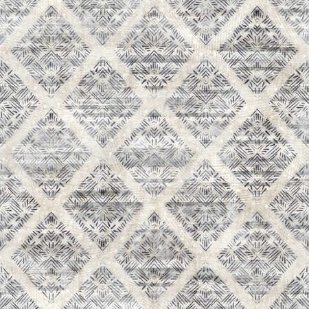Seamless gray and cream grungy damask pattern for surface design and print