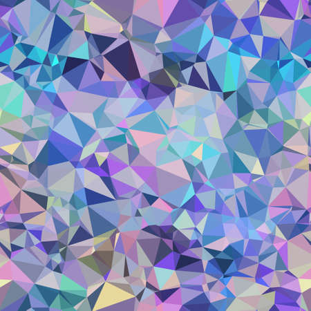 Seamless iridescent purple and blue triangle pattern for surface pattern and print