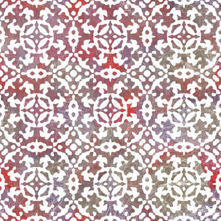 Seamless white on color interior wall tile style surface pattern design for print Standard-Bild