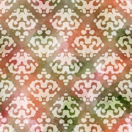 Seamless ornamental flourish damask surface pattern design for print