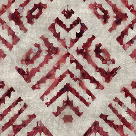 Seamless tribal ethnic damask rug motif for surface pattern design and print