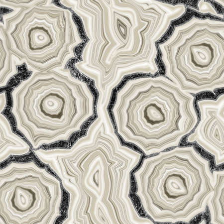 Seamless banded agate geode marble rock with gray stone edge surface pattern design for print Standard-Bild