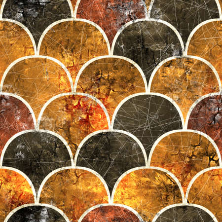 Seamless Moroccan Tile Mosaic Grungy Pattern for Surface Print Standard-Bild
