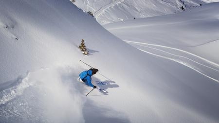 Freeride 스키 스톡 콘텐츠