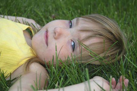 Girl in grass 126 Stock Photo