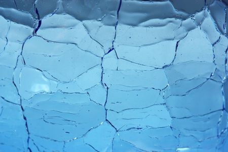 Crackle Glass Blue Background