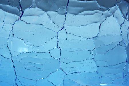 semblance: Crackle Glass Blue Background  Archivio Fotografico