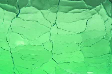 Crackle Glass Green Background