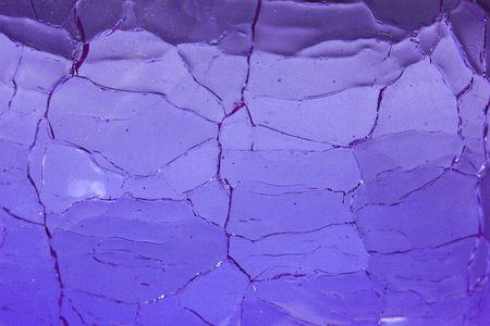 Crackle Glass Blue Background