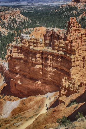 stargaze: Bryce Canyon hoodoos with hikers visible