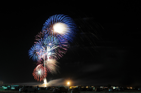 roswell: Fourth of July fireworks in Roswell, New Mexico. Stock Photo