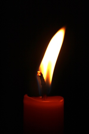 Dark Red candle flame Imagens