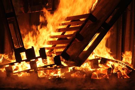 kindle: Fire Stock Photo