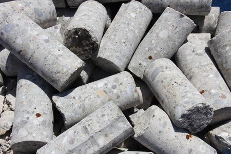 Core drill holes