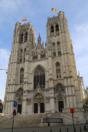st: Cathedral of St. Michael and St. Gudula Editorial