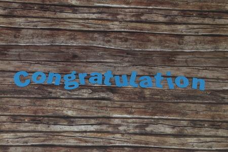 heartfelt: Congratulations Stock Photo