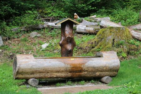 springwater: fountain Stock Photo