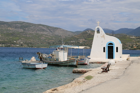 chapel Greece Stock Photo