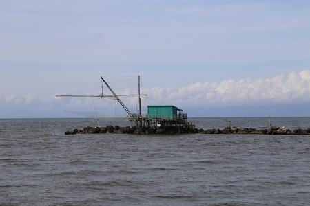 fishing hut: fishing hut