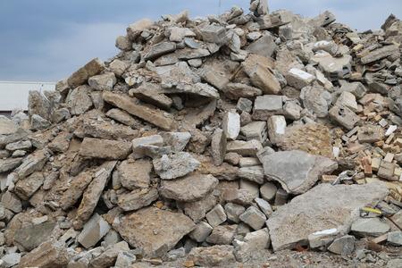overburden: rubble mountain