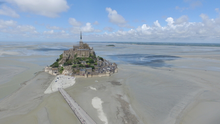 basse normandy: Mont St. Michel Stock Photo