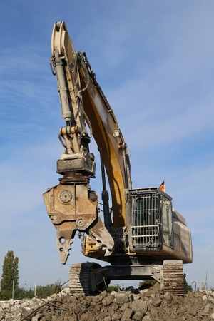 excavator Standard-Bild