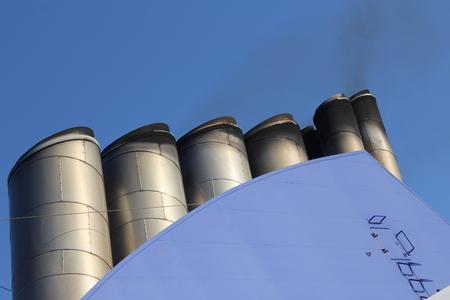 ship chimney Standard-Bild