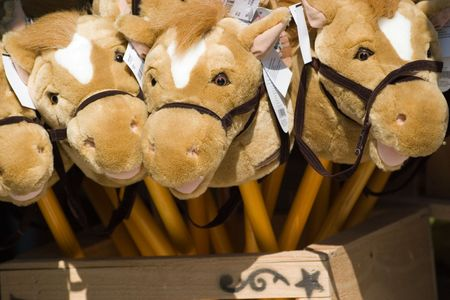 a bundle of toys at a carnival Stock Photo