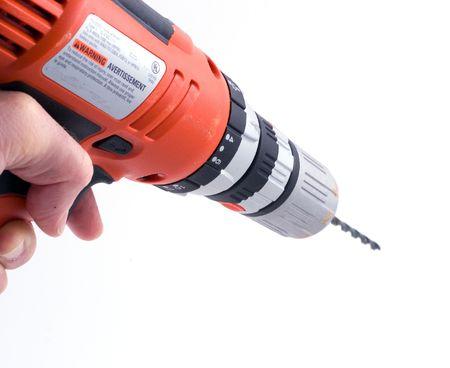 keyless: a hand using a drill (part of a set)