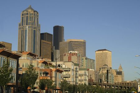 business life line: a commercial skyline in Seattle