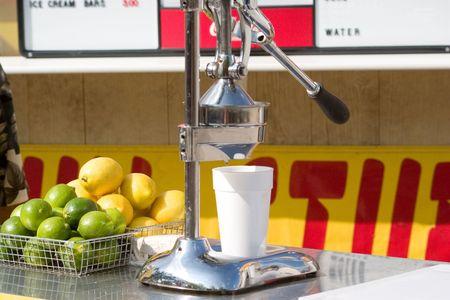 a lemon press at a concession stand