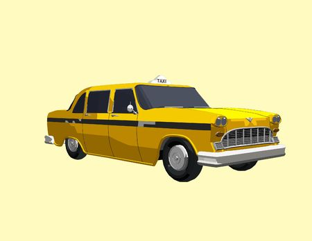 side of a yellow cab (Part of a series)
