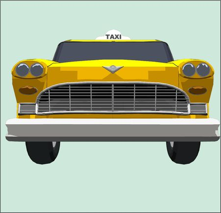 front of a yellow cab (Part of a series)