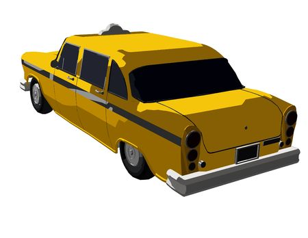 an illustration of a yellow cab (Part of a series) illustration