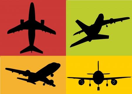 a set of plane illustrations Stock Photo