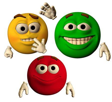 large emoticons showing happy faces Archivio Fotografico