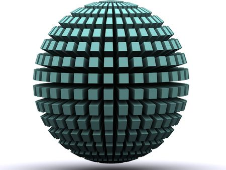 a 3d rendered globe