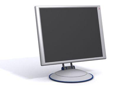 a flat panel lcd computer monitor Stock Photo