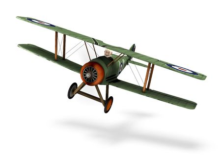 old fashioned: a cartoon biplane Stock Photo