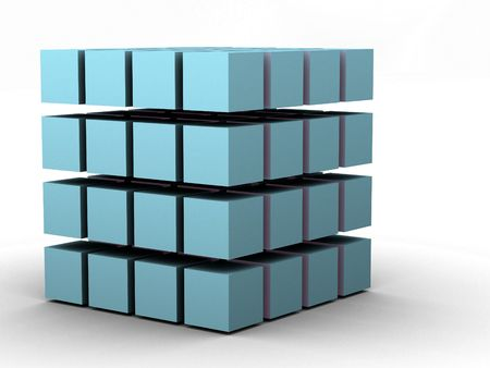 technology agreement: #4 - a 3d render of a cube (part of a series)