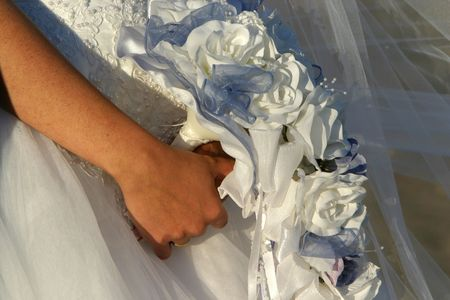 a women holds her bouquet Stock Photo - 294983