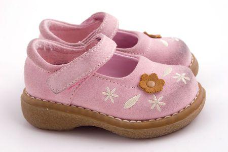 a set pink  shoes