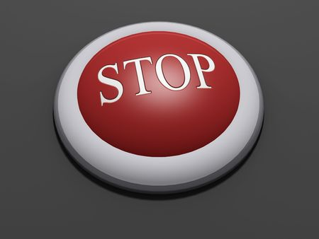 #4 - a 3d rendered button with embossed text (could be replaced). Part of a series photo