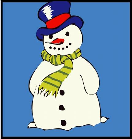 a detailed snowman illustration illustration