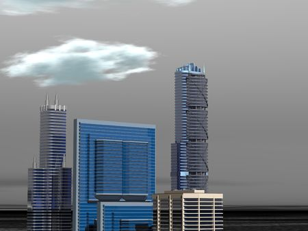 skyline buildings daytime Banco de Imagens