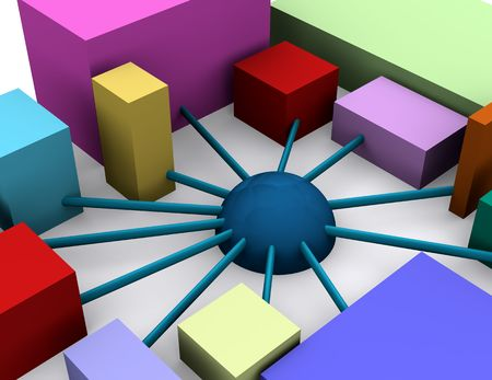 an abstract image showing an organization with diversity