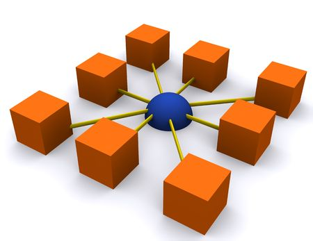 a square network depiction